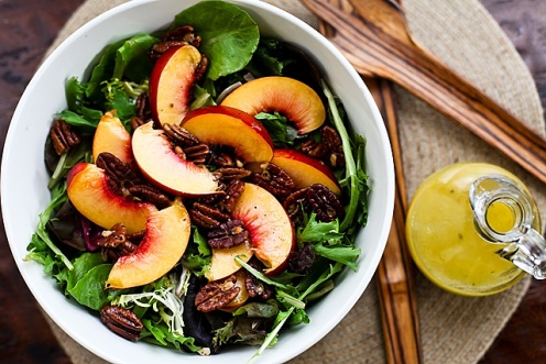 Nectarine Spring Mix Salad with Lemon Vinaigrette