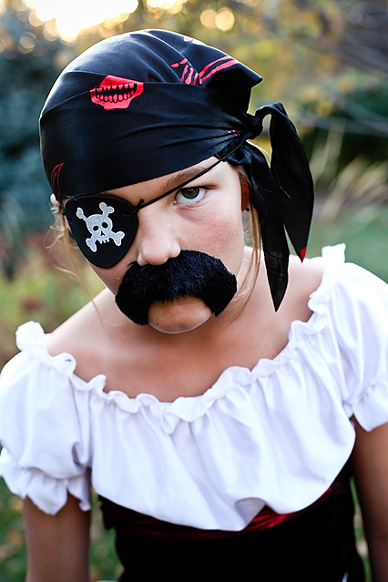 "I asked all of the girls individually to give me a ""mean"" pirate face."