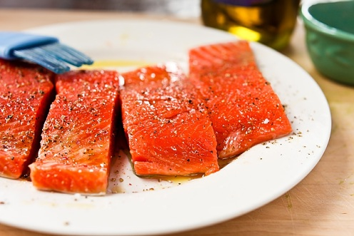 Salmon, pan-seared salmon