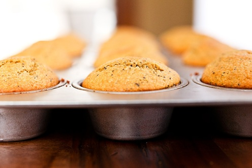 Meyer Lemon Cornmeal Muffins